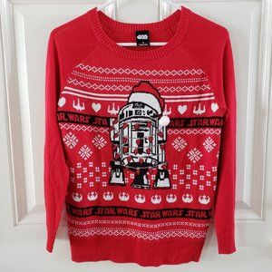 STAR WARS R2D2 Sta Claus Boys Holiday Sweater